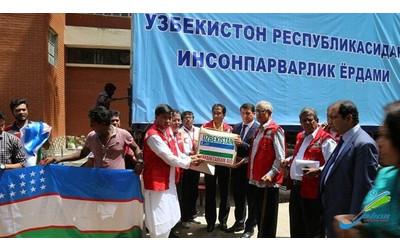 Uzbekistan hands over humanitarian aid to Myanmar's Muslim-refugees