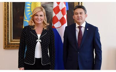 Kazakhstan's Ambassador delivers credentials to President of Croatia