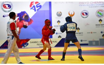 Turkmen sambo wrestlers win 7 gold medals at Asian Championship in Tashkent
