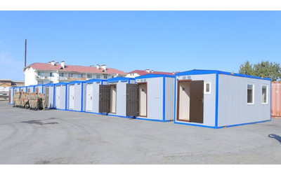 Russia presents Kyrgyzstan 35 one-room mobile homes