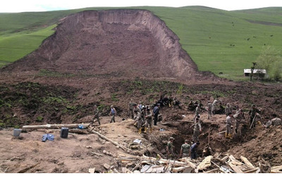 Villager lost his entire family in Osh landslide