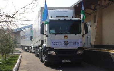 Uzbekistan sends humanitarian aid to Tajikistan