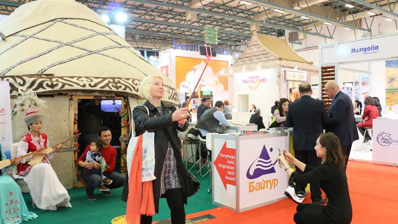 Kyrgyzstan wins award for most authentic booth at tourism