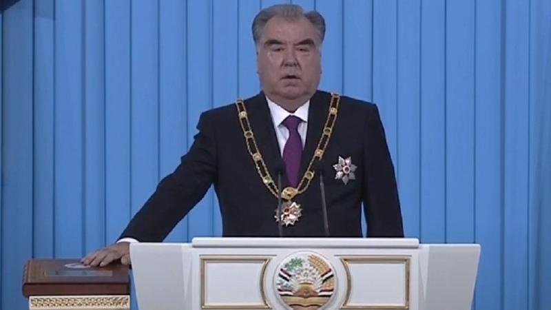 Rahmon sworn in as President of Tajikistan 5th time